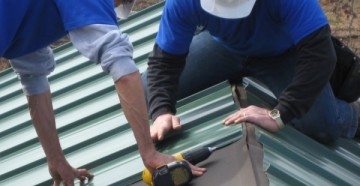 крыша профнастила руками фото