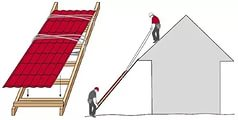 подъем профнастила крышу
