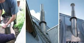 как провести дымоход через крышу -советы профессионалов