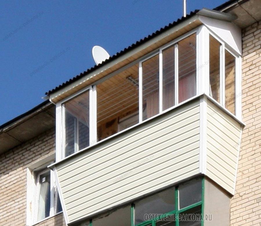 Крыша на балконе последнего этажа - особенности конструкции .