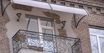 Крыша на балконе как сделать