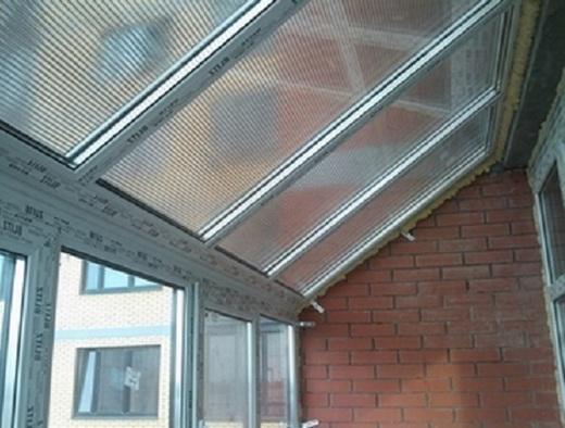 Как сделать крышу балкона на металлическом каркасе