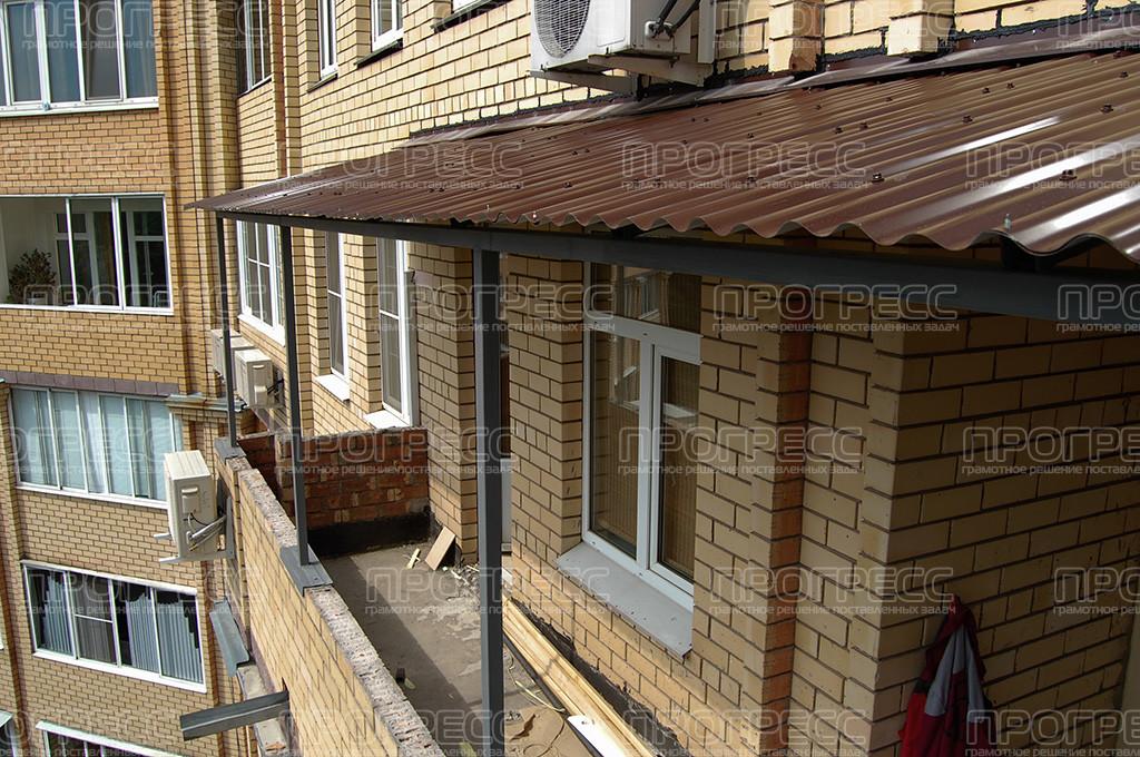 Крыша на балкон из ондулина что это такое