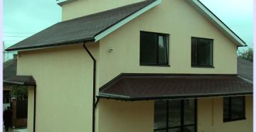 Двускатнапя крыша из профнастила