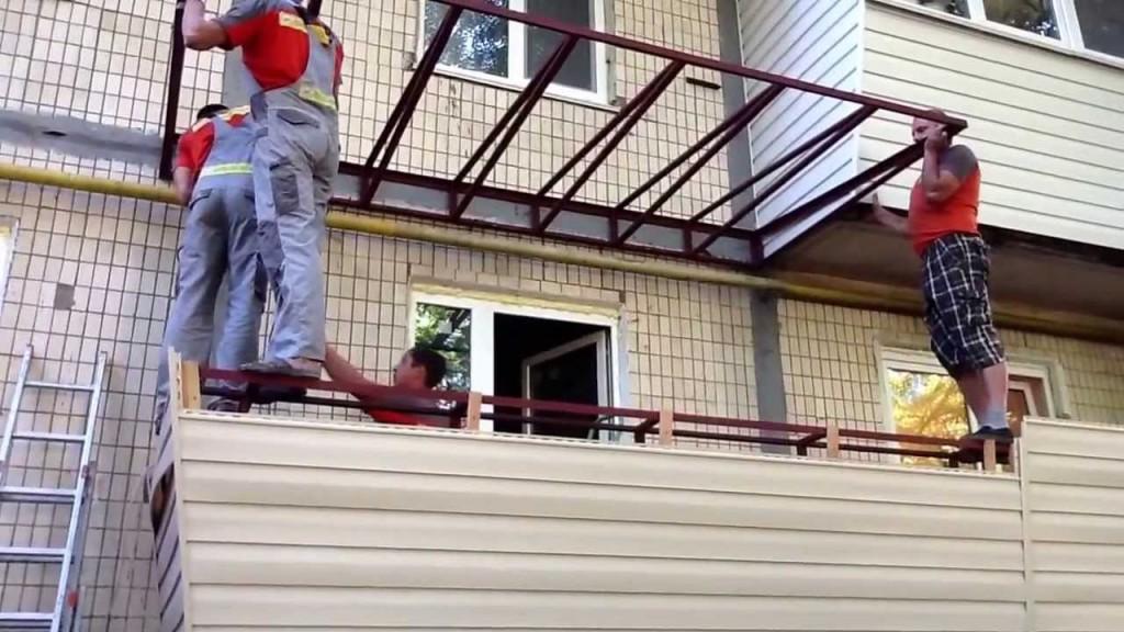 Независимая конструкция крыши балкона что это такое