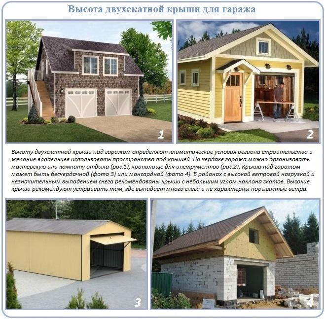 Как сделать двускатную крышу для гаража