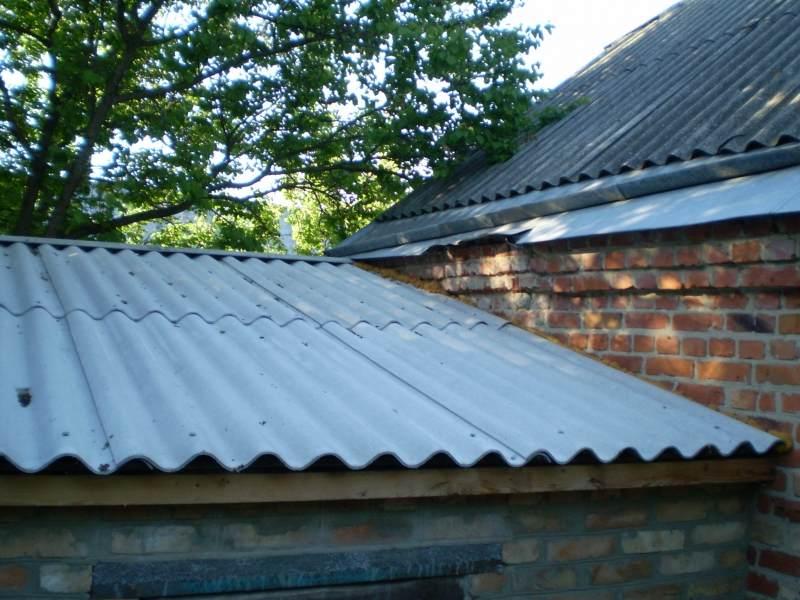 Как покрыть крышу гаража шифером