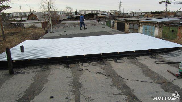 Крыша из профнастила на гараж