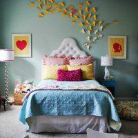 вариант красивого декорирования стен фото