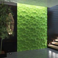 вариант необычного украшения стен фото
