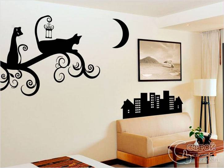 Виниловые наклейки — кошки