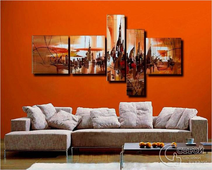 Декор стен с помощью панно