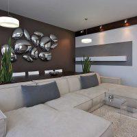 вариант красивого украшения стен в помещениях картинка