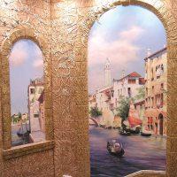 идея яркого декорирования стен в помещениях фото