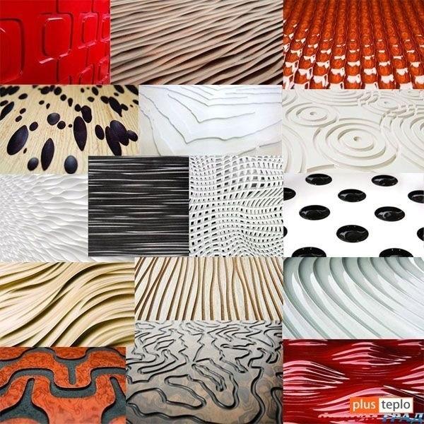 Примеры декоративных поверхностей акустических панелей