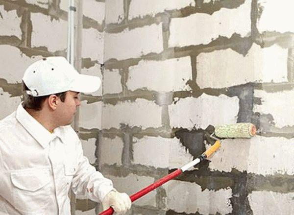 Подготовка стен из ячеистого бетона к оштукатуриванию
