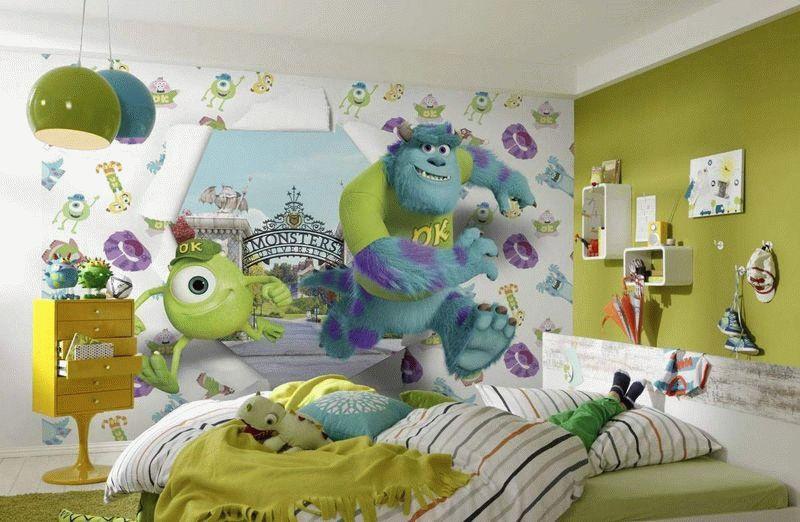 3д обоибезопасны для здоровья, поэтому идеально подходят для оклейки стен в детской