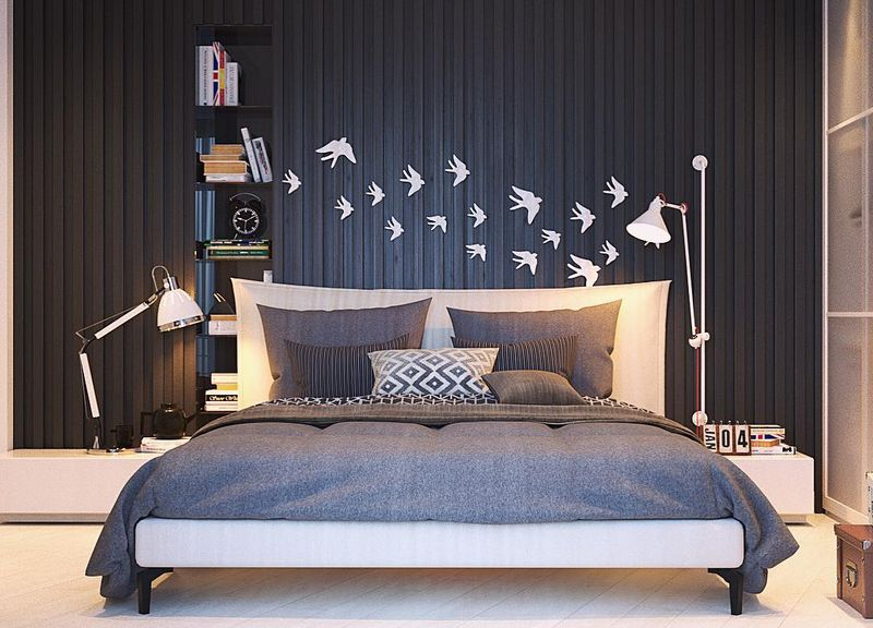 стены в спальне