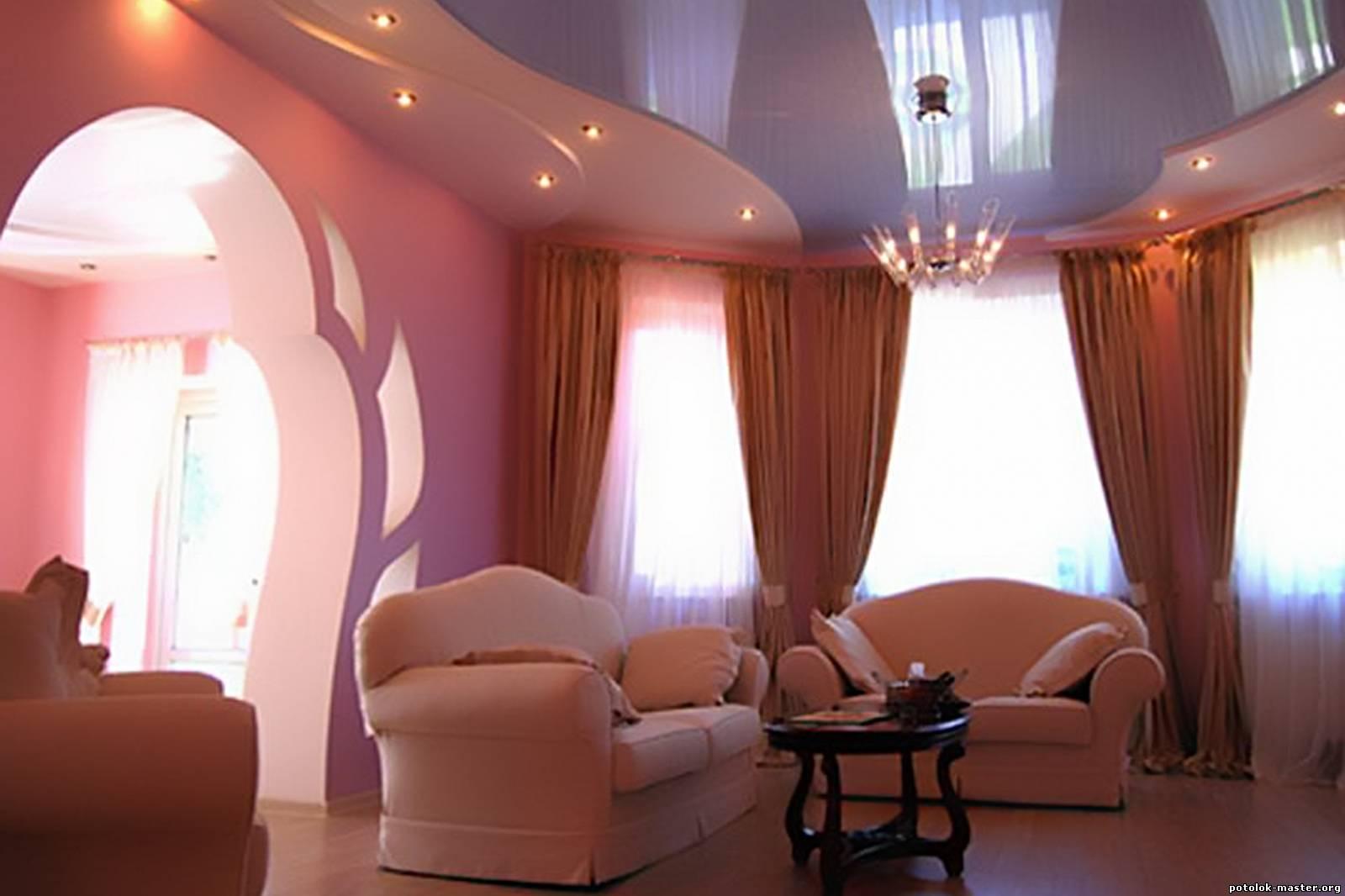 Показать подвесные потолки фото зал 15