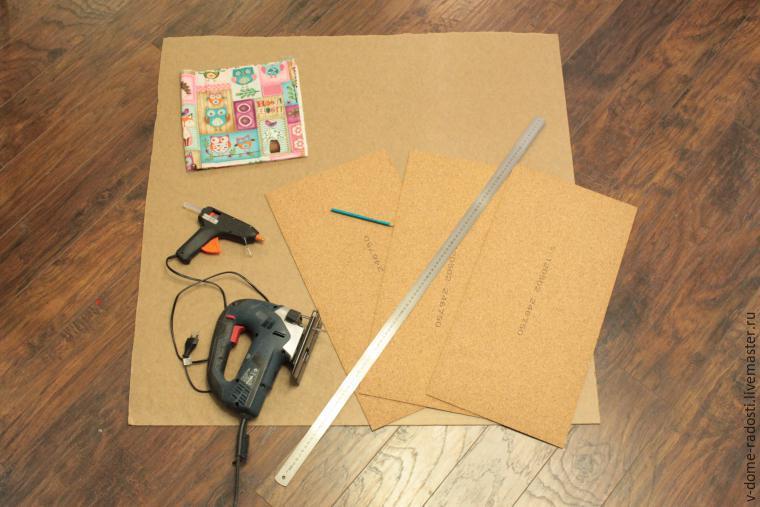 Как сделать пробковую доска на стену своими руками